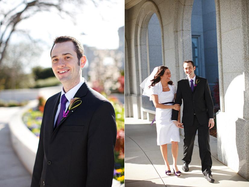 sacramento lds temple wedding of Ryanne & Nate