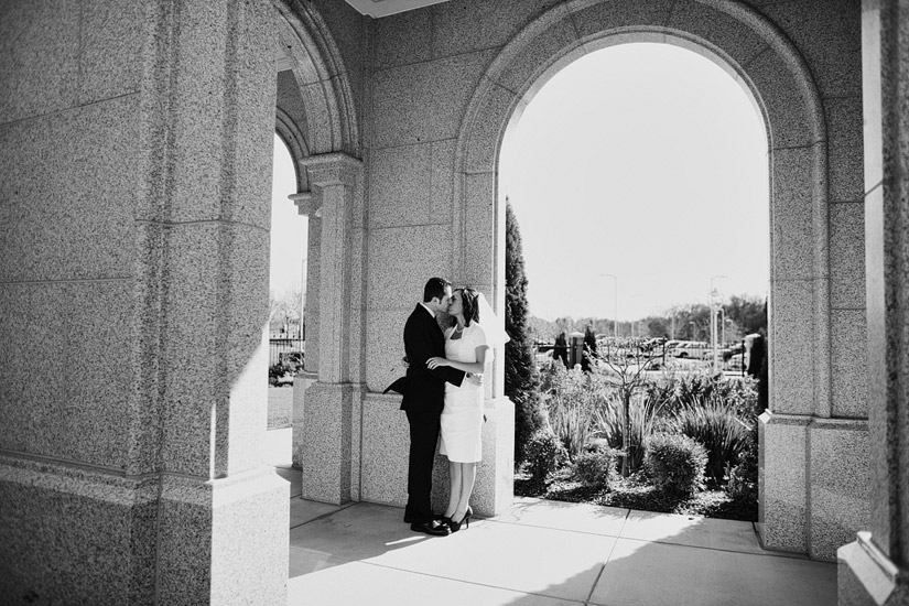 lds temple wedding photo, Ryanne & Nate's sacramento wedding