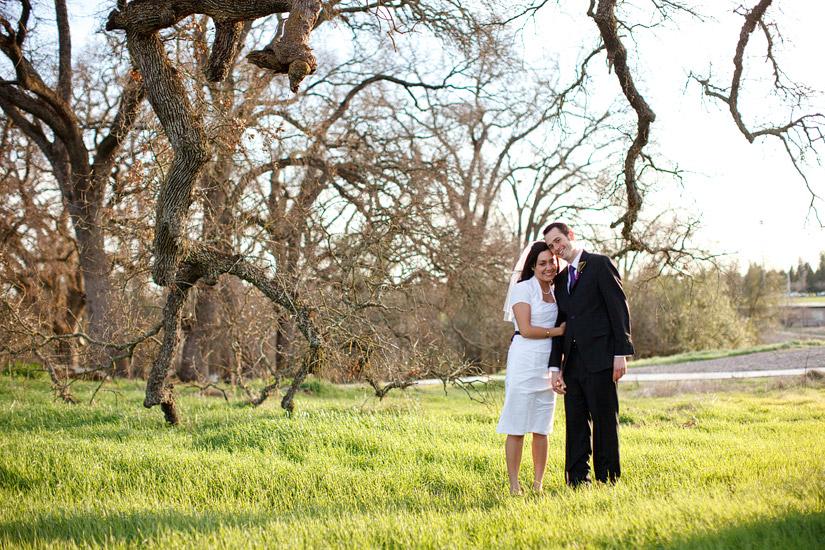 Maidu Indian Museum Roseville wedding photos, Ryanne & Nate hugging