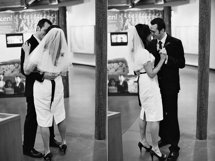 Maidu Indian Museum, Roseville wedding photos of a couple's first dance