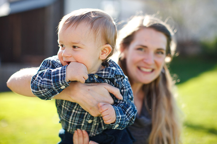 luke with his mom for portrait photography