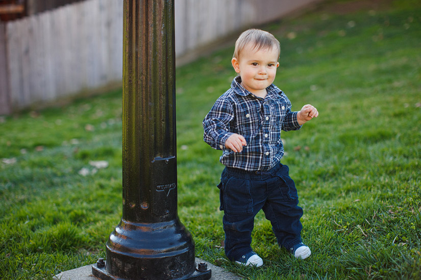 luke walking in the grass for his portrait photos