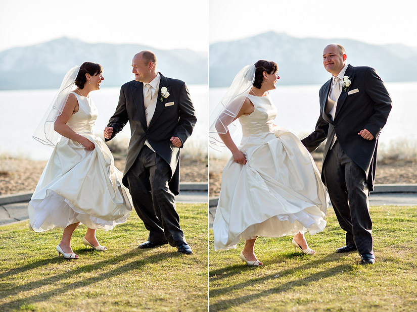 edgewood wedding photos of abby and craig dancing by the lake