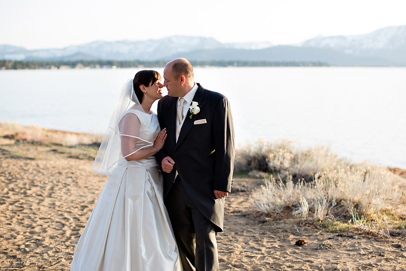 edgewood wedding photo of abby and craig by the lake shore