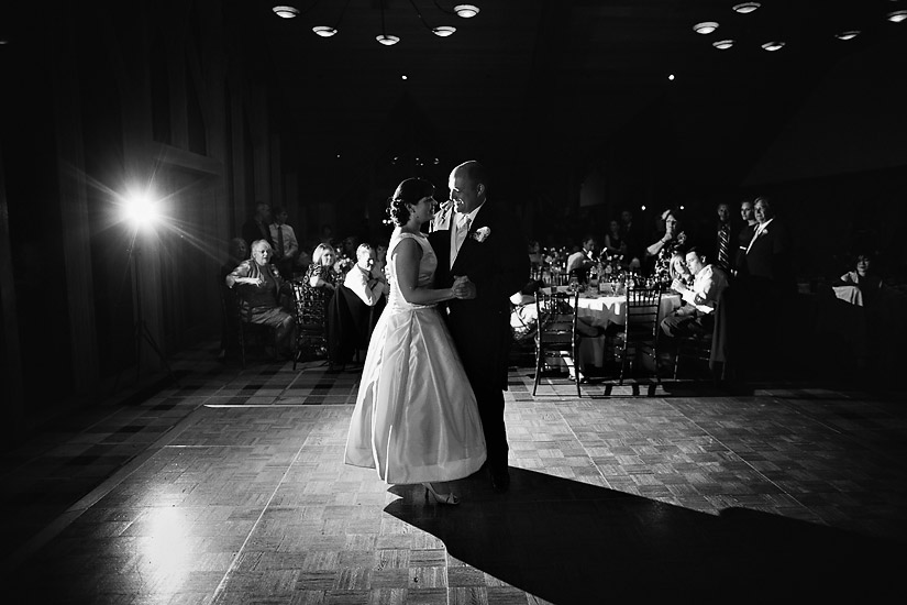edgewood wedding reception photos of abby and craig's first dance