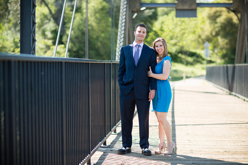folsom engagement photography of erin and david on the bridge