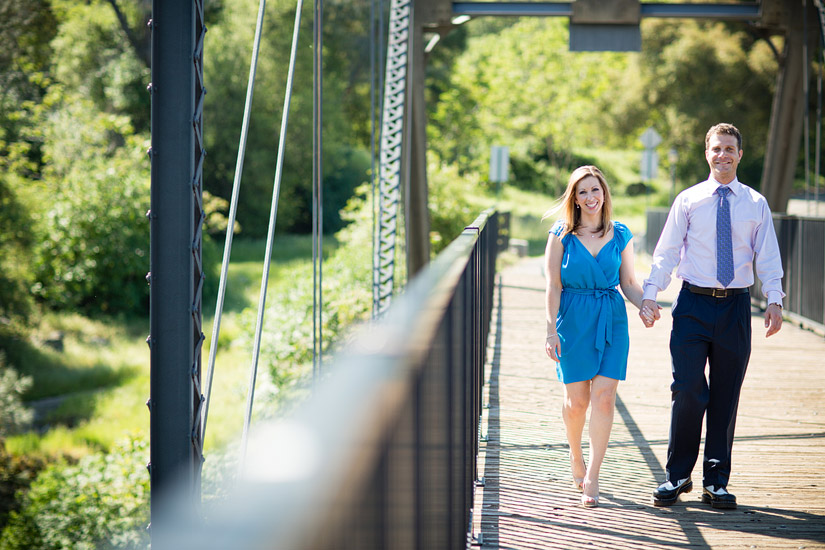 folsom engagement photos of erin and david on the old bridge