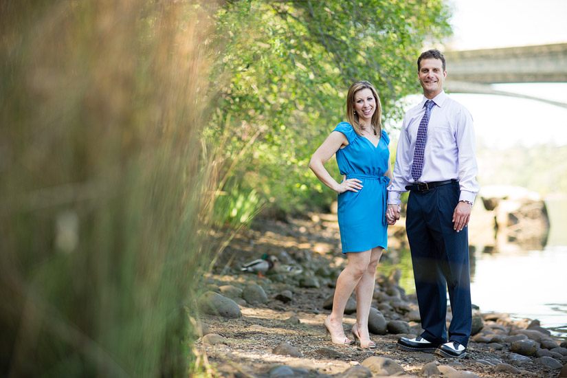 folsom engagement photography of erin and david at lake natoma