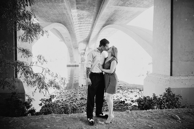 old folsom engagement photography of erin and david kissing