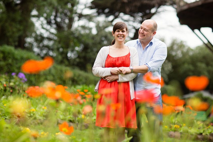 golden gate park engagement photos of abby and craig by poppy flowers