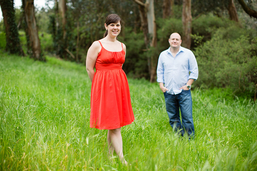golden gate park engagement photography of abby and craig standing