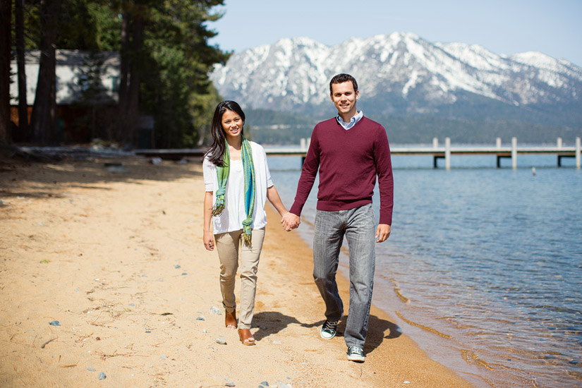 lake tahoe engagement photos at valhalla of carolyn and max by the shore