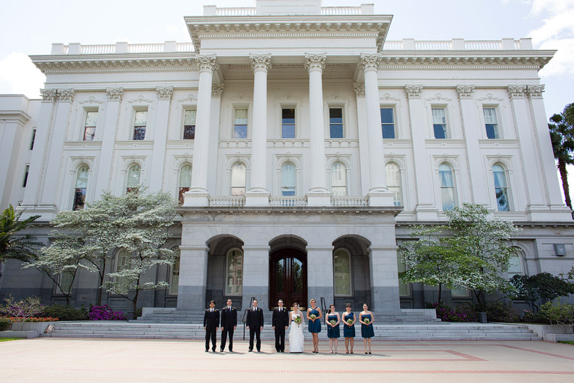sacramento capital wedding, brenda & john's bridal party