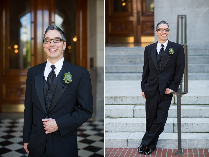sacramento capital wedding photo, john's groom portraits