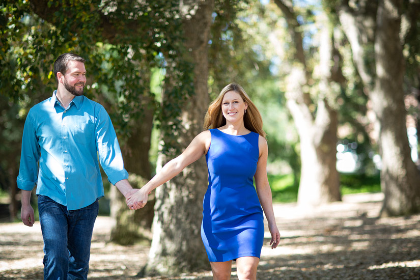 uc davis engagement photos of veronica & scott walking together