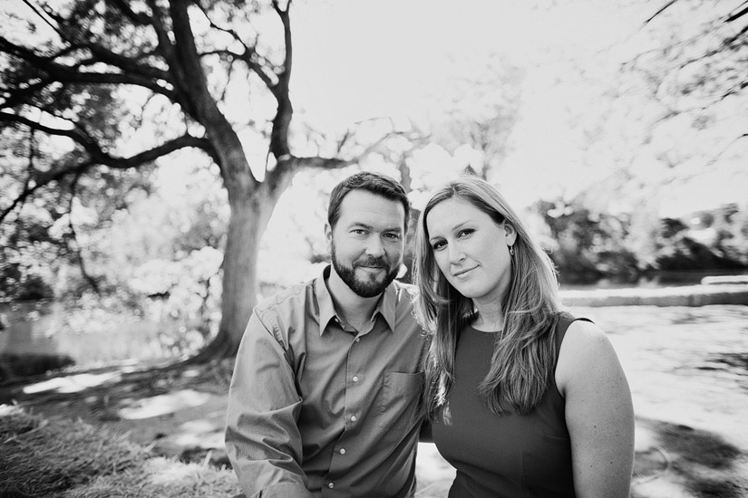 uc davis engagement photos of veronica & scott under an oak tree