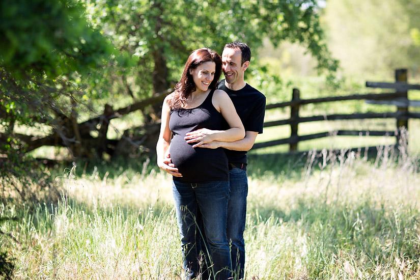 folsom maternity photos of eric and amanda hugging
