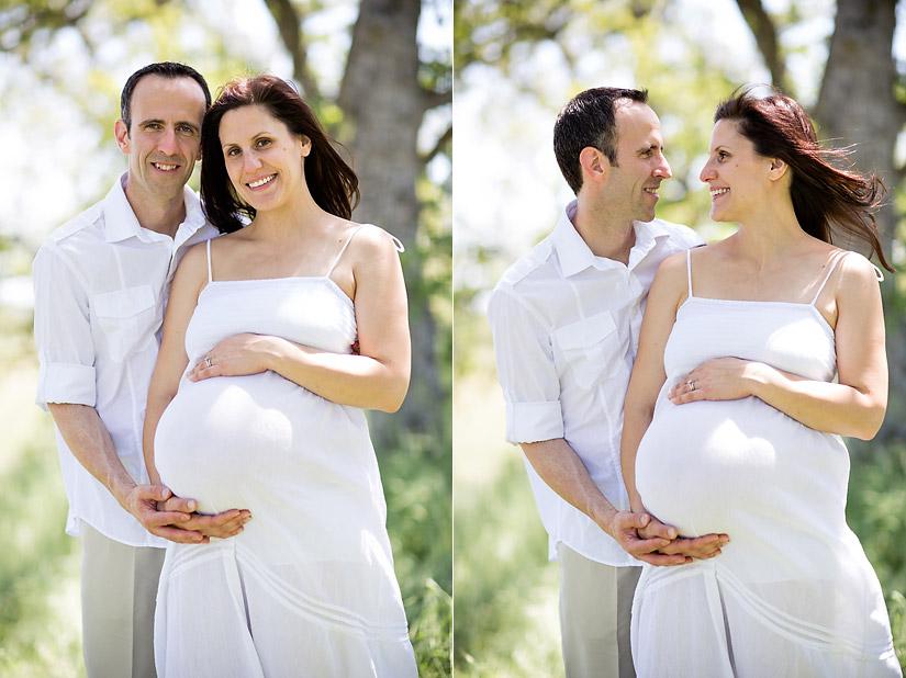 folsom maternity photos of amanda and eric under oak trees