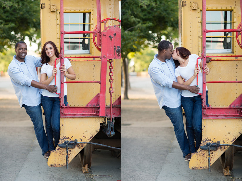 sacramento engagement photos cassie and brandon at the train museum