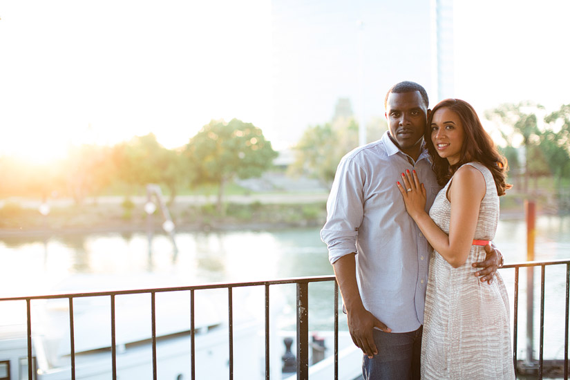 sacramento engagement photography cassie and brandon at sunset