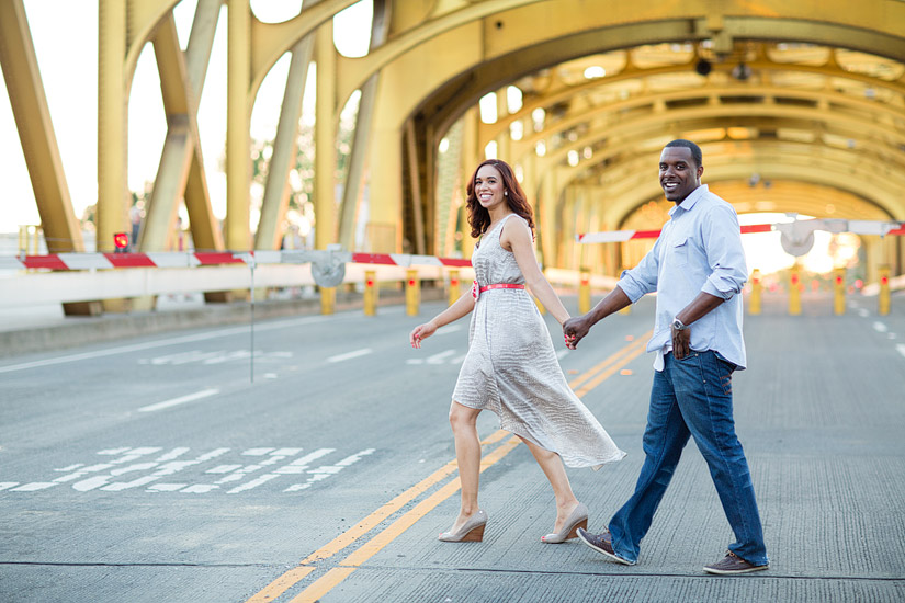 sacramento engagement photo by tower bridge cassie and brandon