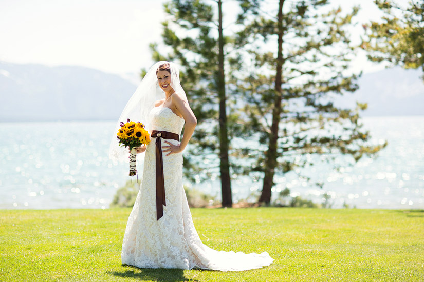 edgewood lake tahoe wedding photography of andrea's bridal photos