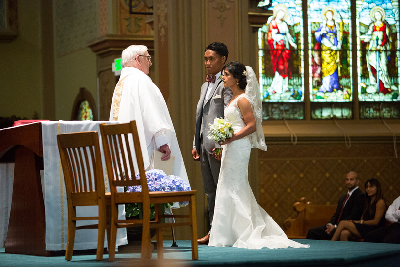 st francis of assisi sacramento, puja and john paul's wedding ceremony photography