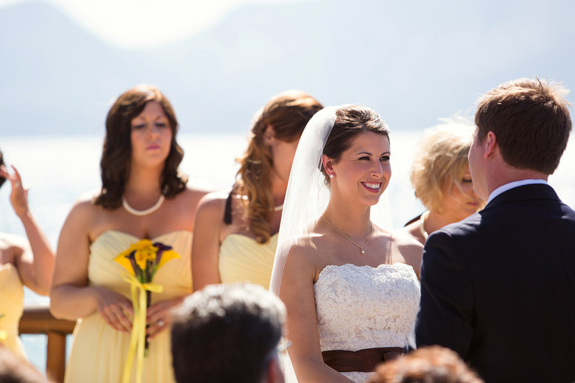 edgewood wedding ceremony photos of andrea & joe's lake tahoe wedding