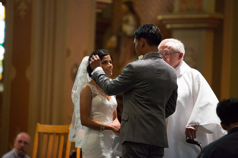 st francis of assisi sacramento wedding ceremony photo