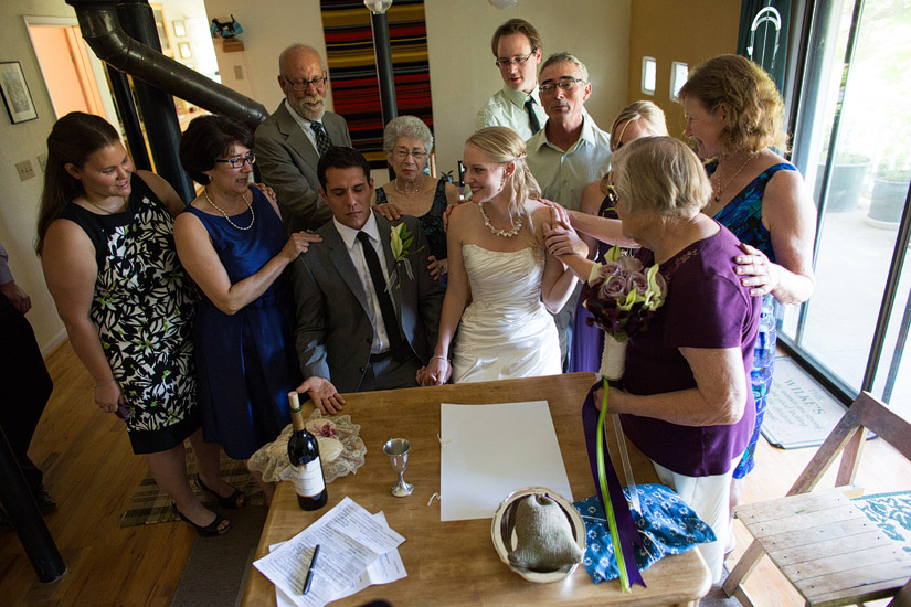 ketubah signing ceremony photos of rita and adam in somerset ca