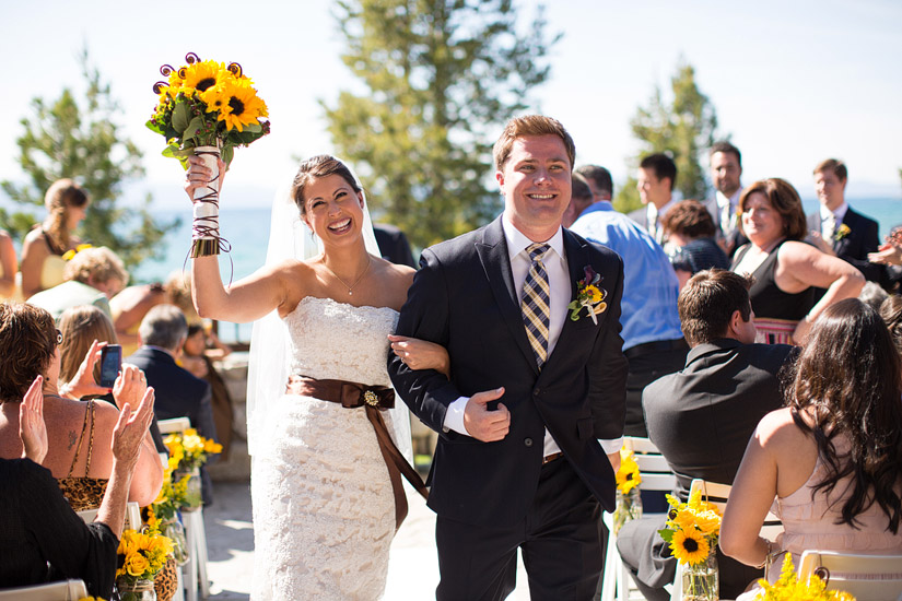 edgewood wedding photo of andrea & joe ceremony on lake tahoe