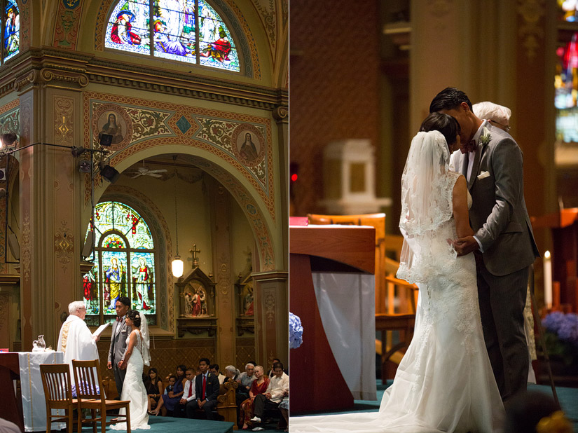 st francis of assisi  wedding ceremony sacramento