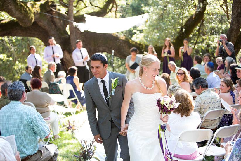 rita & adam's backyard somerset ca wedding ceremony