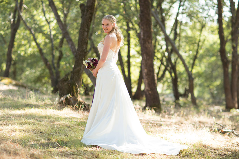 placerville wedding photography, Rita's bridal portraits in the forest