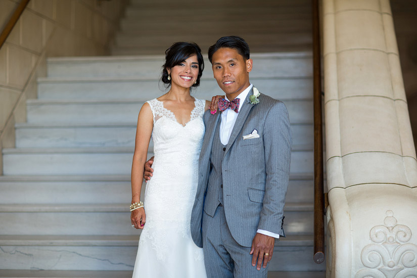 puja & john paul's sacramento masonic temple wedding photo