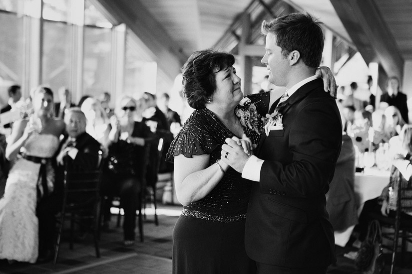 edgewood wedding photo of joe and his mom dancing