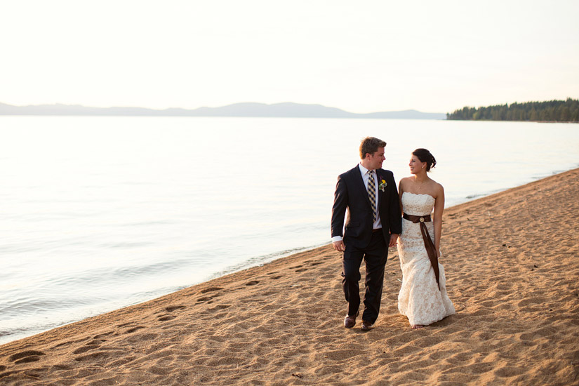 edgewood golf course wedding photos at sunset, lake tahoe photographer