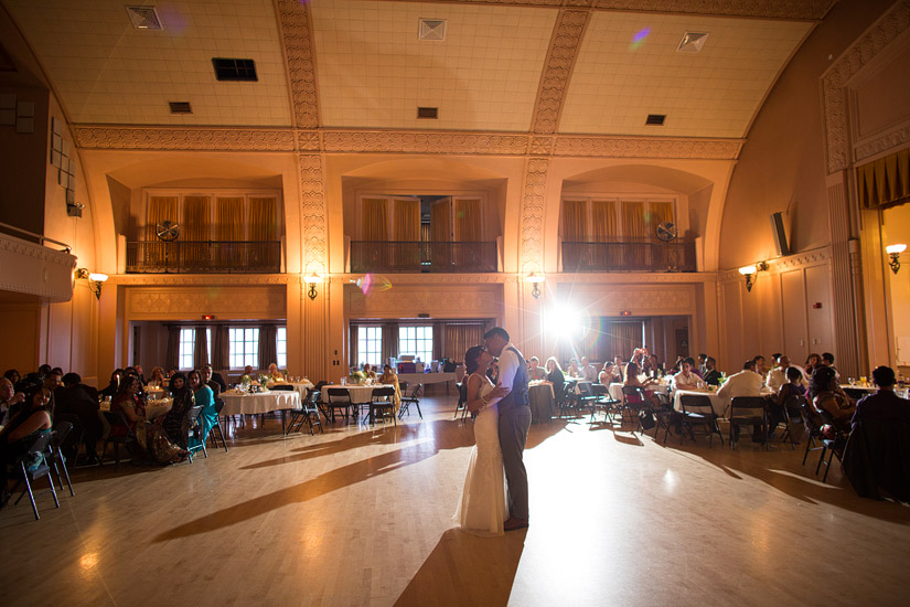 sacramento masonic temple wedding photo of the first dance