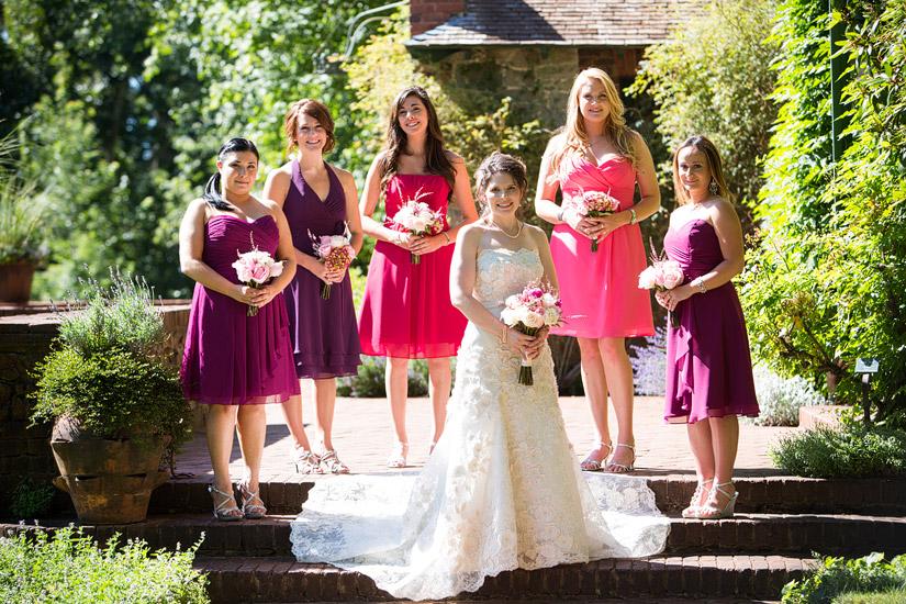 empire mine wedding photos of rachel and her bridesmaids
