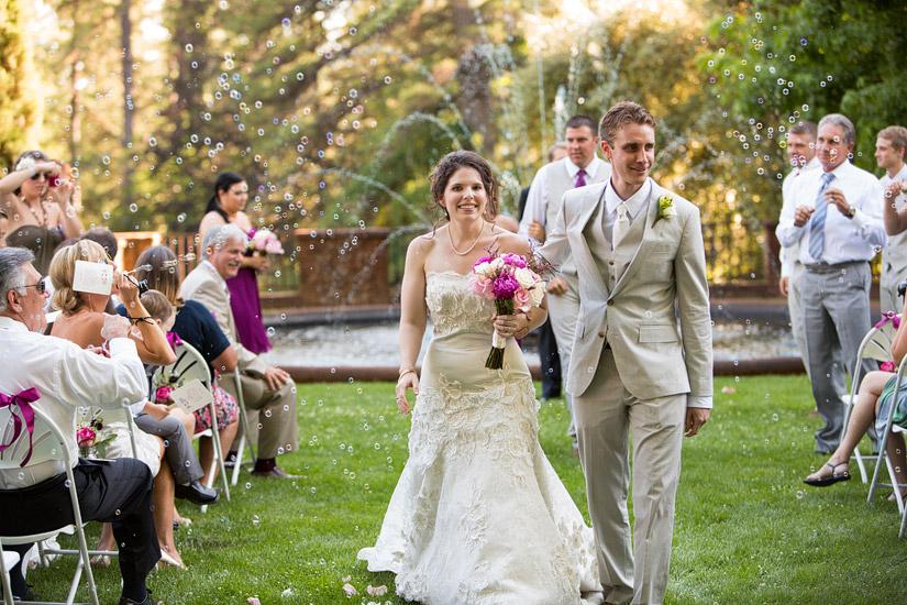 empire mine wedding photo of rachel and rory's ceremony