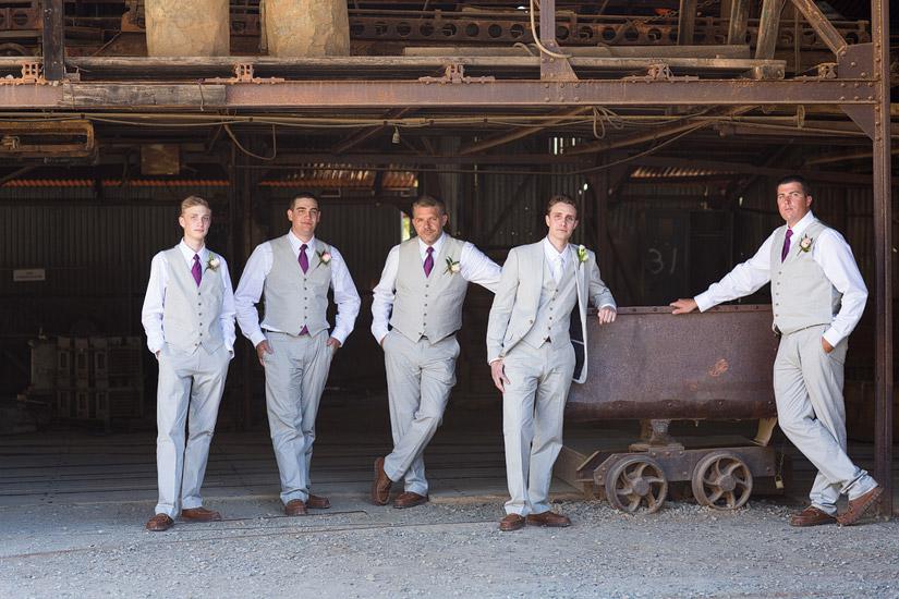 groomsmen at empire mine