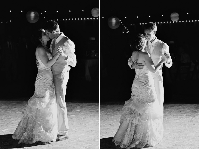 first dance at a Empire Mine wedding