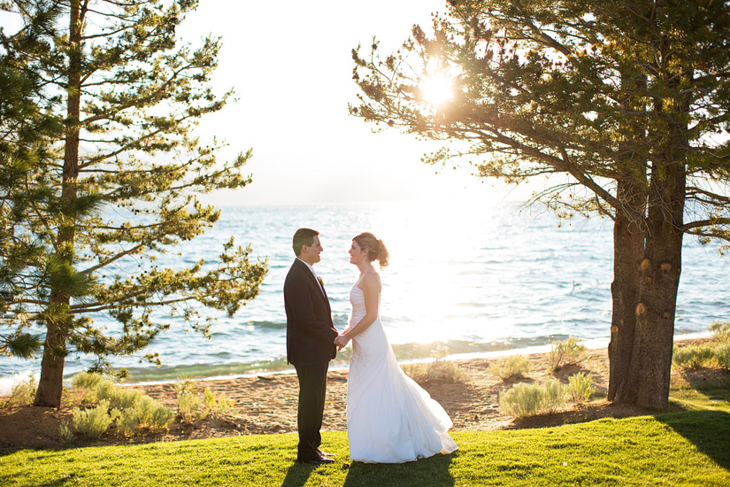 lake tahoe beach wedding photo