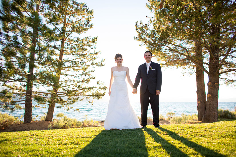 lake tahoe wedding couple