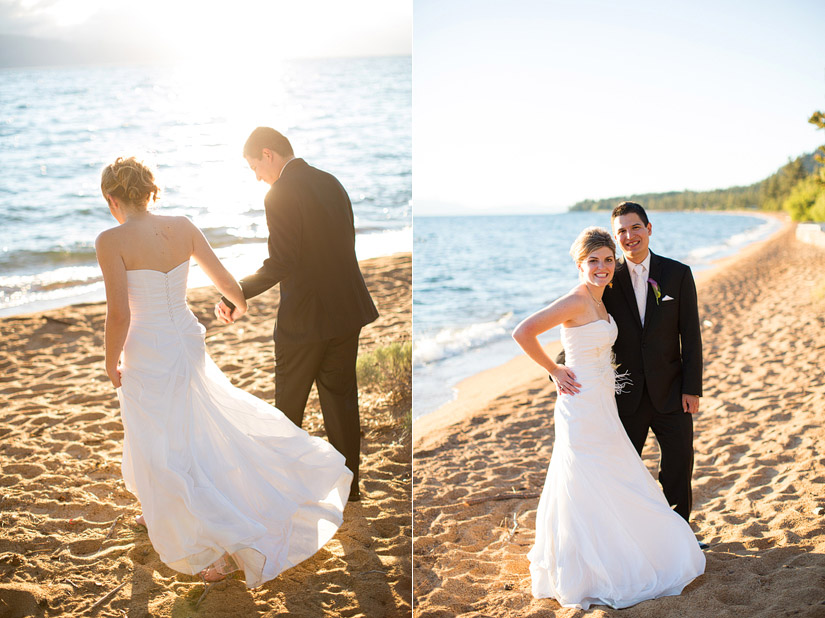 sunset wedding photos at edgewood