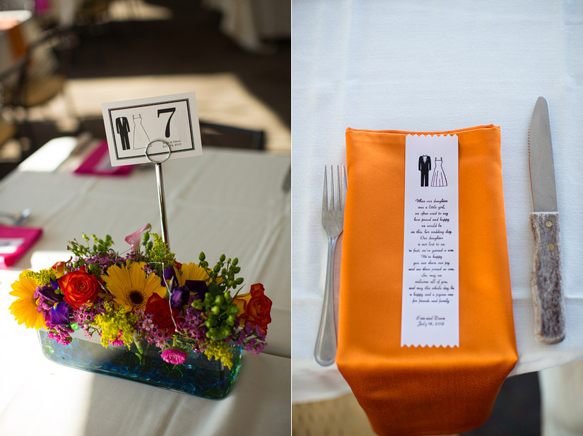 Tahoe Queen Wedding reception details