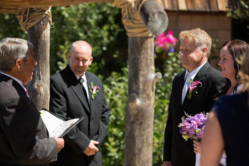 lakeside beach wedding ceremony