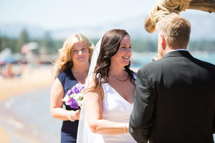 lake tahoe beach wedding photography