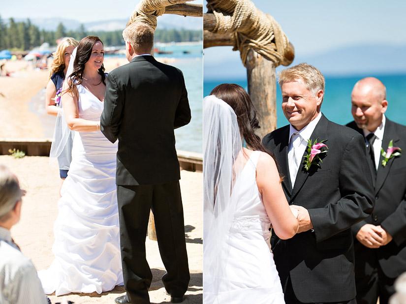 lakeside beach wedding photography