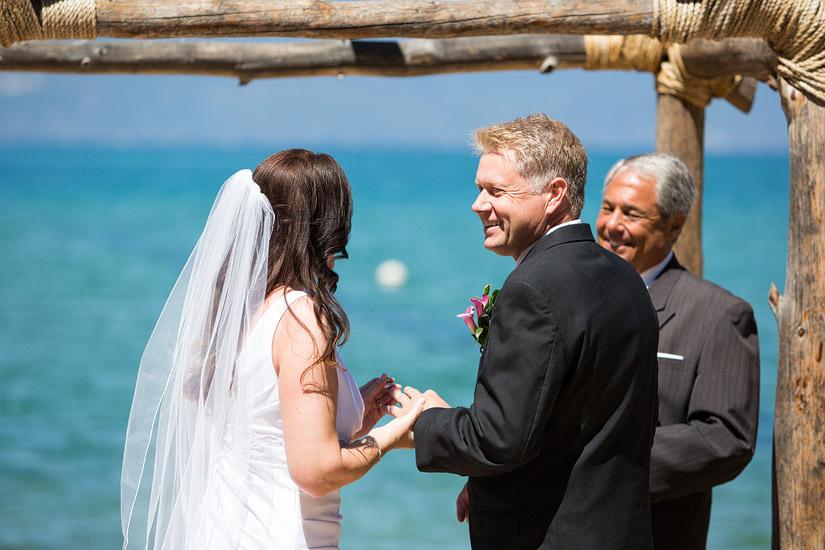 lake tahoe beach weddings
